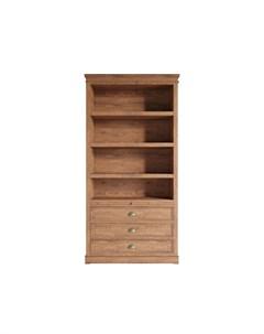 Стеллаж с ящиками palermo natural коричневый 103x210x39 см Etg-home