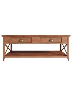 Стол журнальный palermo natural с ящиками коричневый 120x45x65 см Etg-home