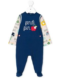 Пижама с принтом логотипа Fendi kids