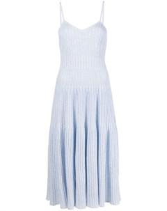 Полосатое платье миди без рукавов Antonino valenti