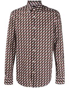 Рубашка с геометричным принтом Boss hugo boss