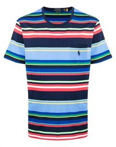 Полосатая футболка с вышитым логотипом Polo ralph lauren