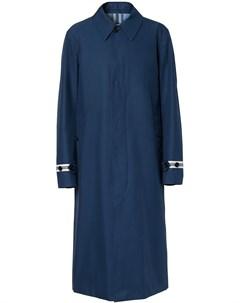 Пальто с контрастными полосками Burberry