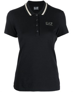 Рубашка поло с контрастной отделкой Ea7 emporio armani
