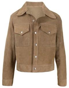 Куртка рубашка со вставками Maison margiela