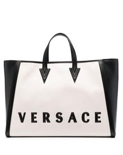 Сумка тоут с логотипом Versace