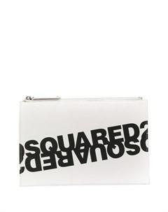 Клатч с двойным логотипом Dsquared2