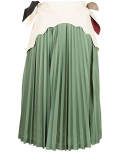 Многослойная плиссированная юбка Toga