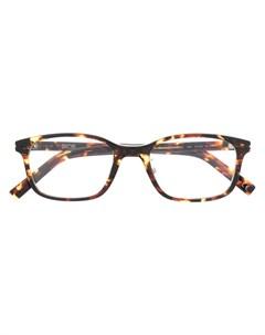 Очки в квадратной оправе черепаховой расцветки Dior eyewear