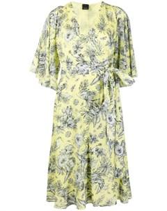 Платье миди с запахом и цветочным принтом Pinko