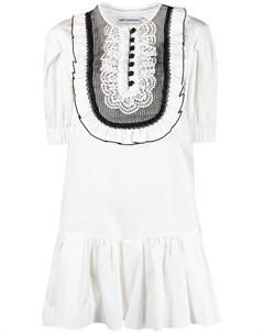 Платье с кружевом Self-portrait