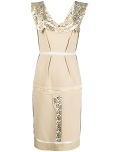 Платье с жаккардовыми вставками Moschino
