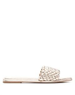 Плетеные сандалии с открытым носком Michael michael kors