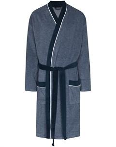 Полосатый халат с поясом Schiesser