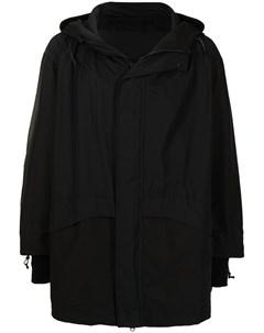 Пальто с потайной застежкой и капюшоном Niløs