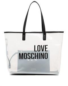 Сумка тоут с тисненым логотипом Love moschino