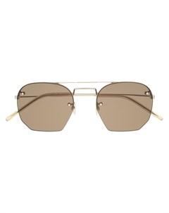 Солнцезащитные очки SL422 в геометричной оправе Saint laurent