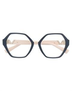 Очки в геометричной оправе Valentino eyewear