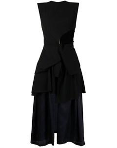 Многослойное платье без рукавов Toga