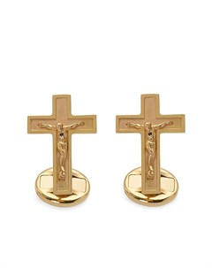 Запонки из желтого золота в форме крестов Dolce&gabbana