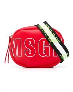 Сумка на плечо с логотипом Msgm kids