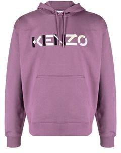 Худи с вышитым логотипом Kenzo