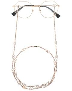 Очки в круглой оправе с логотипом VLogo Valentino eyewear