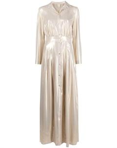 Платье рубашка из ткани ламе Pinko