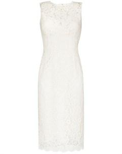 Кружевное платье миди без рукавов Dolce&gabbana