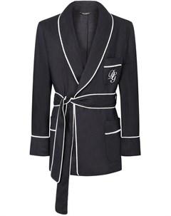 Короткий халат с вышитым логотипом DG Dolce&gabbana