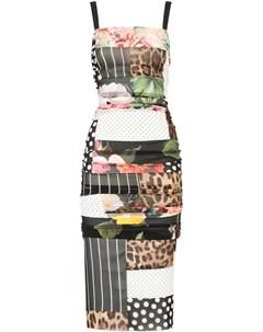 Платье миди с принтом Dolce&gabbana