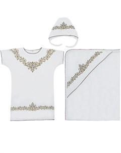 Крестильный набор сорочка чепчик уголок Иново