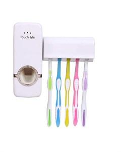 Дозатор зубной пасты Размер держателя для щеток 11х4 5 см Размер выжимателя 15 5х5 см Lemon tree