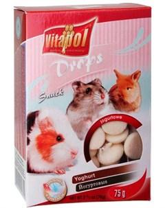 Drops Yoghurt лакомство дропсы для грызунов и кроликов с йогуртом 75 гр Vitapol