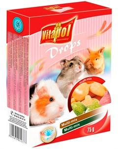 Drops Multi mix лакомство дропсы для грызунов и кроликов 75 гр Vitapol