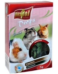 Drops Vegetable лакомство дропсы для грызунов и кроликов с овощами 75 гр Vitapol