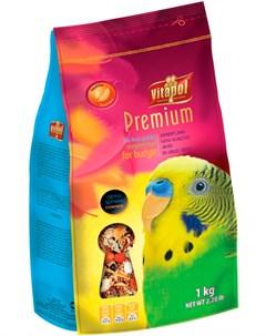 Premium корм для волнистых попугаев 1 кг Vitapol