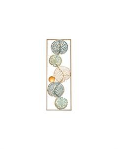Панно декоративное листья мультиколор 31x89x4 см Garda decor