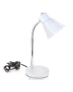 Лампа настольная DEL1025 1 E14 25Вт 220В 50Гц пластик металл белый Домовой