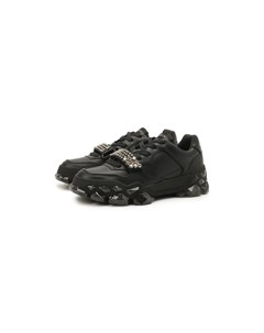 Кожаные кроссовки Diamond X Strap Flat Jimmy choo