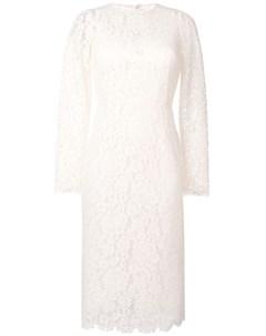 Приталенное кружевное платье Dolce&gabbana