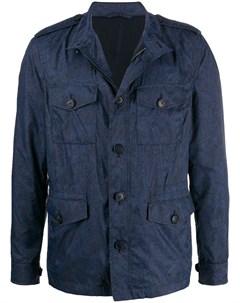 Куртка с карманами и узором пейсли Etro