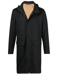 Пальто с потайной молнией и капюшоном Eleventy