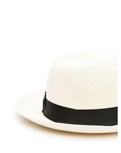 Шляпа с контрастной лентой Borsalino