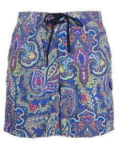 Плавки шорты с принтом пейсли Etro