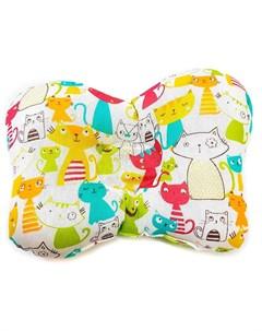 Подушка анатомическая Цветные Кошки Моей крохе