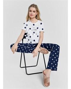 Пижама из принтованного хлопка Ostin