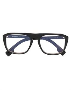 Очки авиаторы в полосатой оправе Burberry eyewear