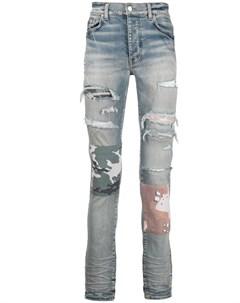 Узкие джинсы с эффектом потертости Amiri