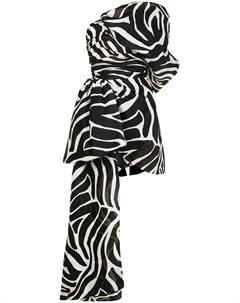 Платье мини с зебровым принтом Isabel sanchis